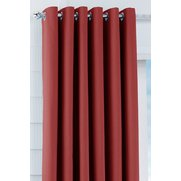 Unlined Plain Canvas Ring Top Curtains