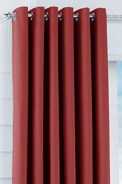 Unlined Plain Canvas Eyelet Curtains