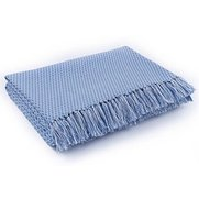 Two Tone Cotton Fringed Throw