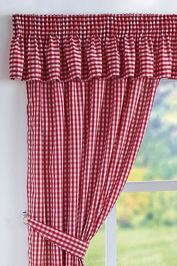 Gingham Kitchen Curtains
