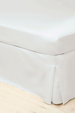 200 Count Percale Platform Pleated Valance Sheet