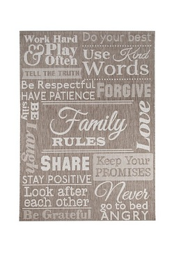Family Rules Rug & Runner
