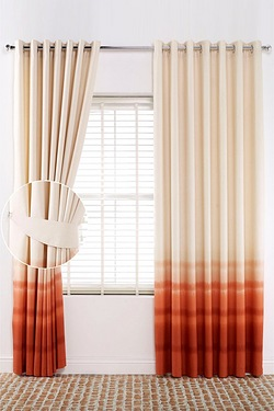 Ombre Ring Top Curtains - Tie Backs
