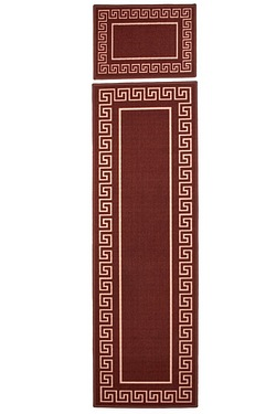 Greek Key Runner + Free Doormat