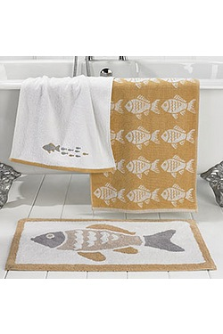 Fishy Jacquard Towels