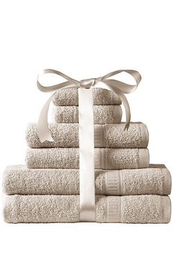 Kingsley 6-Piece 100% Cotton Towel ...