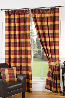 Imperial Check Curtains