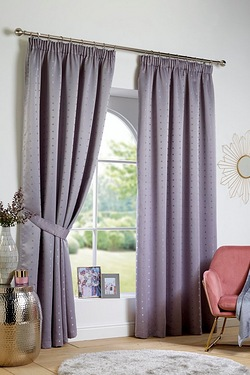 Malham Lined Pencil Pleat Curtains