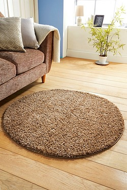 Circle Retro Shaggy Plain Rug