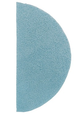 Half Moon Retro Shaggy Plain Rug