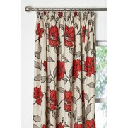 Bouquet Lined Tape Top Curtains