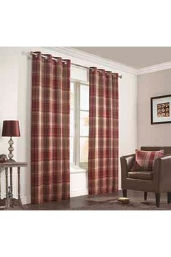 Inverness Lined Eyelet Curtains