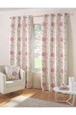Santorini Lined Eyelet Curtains