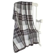 Set Of 2 Check Fleece Blankets