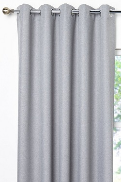 Hopsack Woven Thermal Blackout Eyelet Curtains