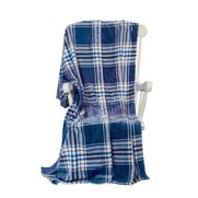 Warm Velvet Check Throw