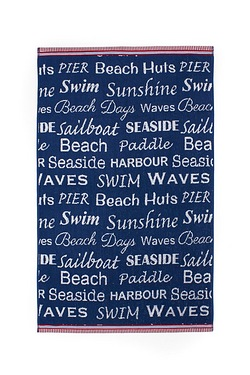Beach Days Jacquard Towels