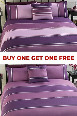 Linear Stripe Duvet Set - Buy One G...