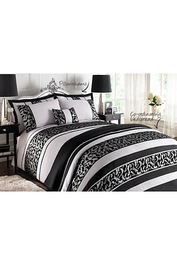 Beautiful Metallic Butterfly Duvet Set