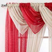 Casablanca Pair Of Glitter Voile Swags