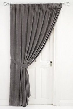 Lined Velvet Pencil Pleat Door Curtain