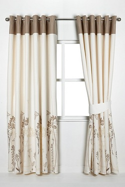 Meadow Lined Cotton Eyelet Curtains