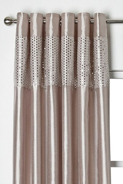 Foiled Top Border Eyelet Curtains