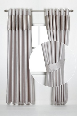 Pleated Top Border Tie Backs
