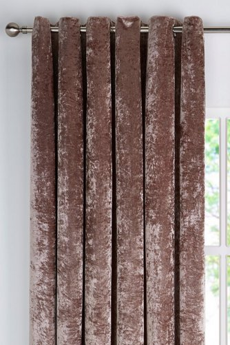 Image for Crushed Velvet Curtains from studio