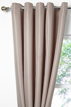 Waffle Lined Ring Top Curtains