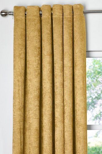 Image For Vogue Woven Blackout Eyelet Curtains From Studio