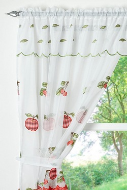 Apple Gingham Net Curtain Set