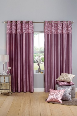Butterfly Sequin Top Border Curtains