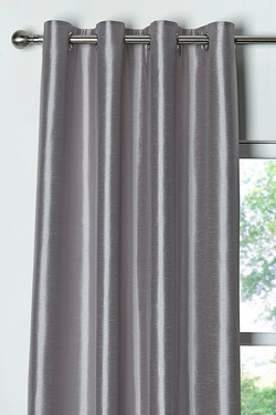 Faux Silk Eyelet Door Curtain