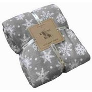 Snowflake Flannel Fleece Throw