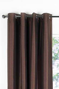 Faux Silk Coated Blackout Curtains