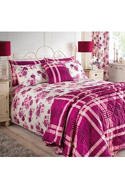 Romantic Floral Bedding Set and Cur...