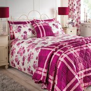 Romantic Floral Bedding Set & Curtains