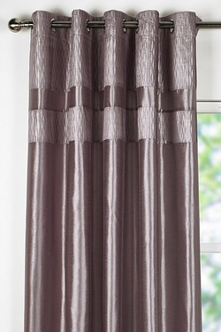 Crinkle Top Border Curtains
