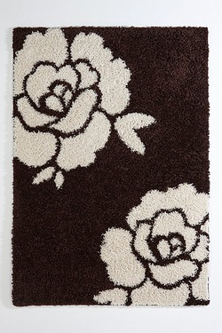 Flower Shaggy Rug