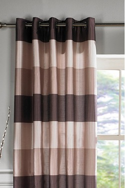 Faux Silk Horizontal Stripe Curtains