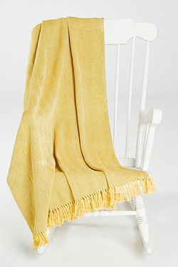 Chevron Cotton Fringed Throw