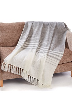 Cascade Mohair Stripe Throw