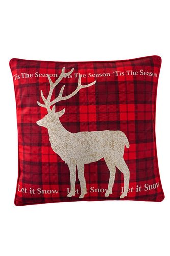 Image for Reindeer Check Cushion Cover from ace