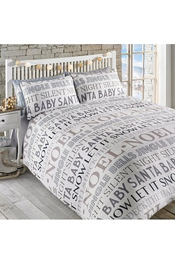 Noel Text Duvet Set