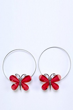 Pair Of Magnetic Butterfly Tie Backs