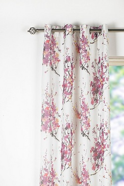 Pair Of Blossom Eyelet Lined Voile ...