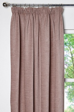 Chenille Lined Pencil Pleat Curtains