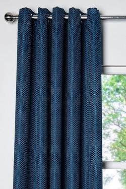 Basket Weave Blockout Eyelet Curtains