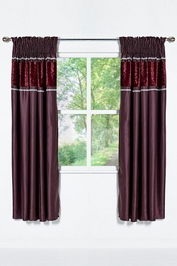 Floral Embossed Velvet Curtains